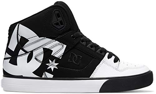 DC Men's Pure High-Top WC SP Shoes,10D,Black/Black/White