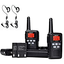 Two Way Radios Rechargeable, Juentai Jp-350 Pro 2 Way Radios Walkie Talkies With Earpieces 22-Channel FRS/GMRS Range 2.5-Mile 400 MHz-470 MHz Mini Handheld Transceiver (2 Pack)