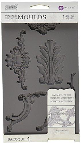 Prima Marketing Fer Orchidée Designs Vintage Art Decor Moule–Baroque # 4