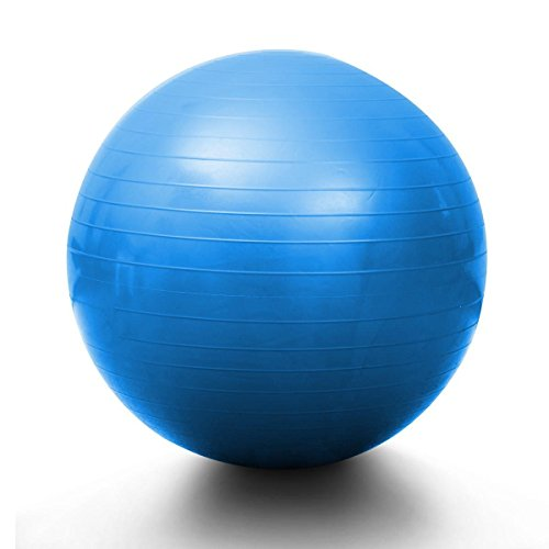 Swiss Ball Yoga Fit PVC Eco Friendly Balancing Washable Blue 75 cm