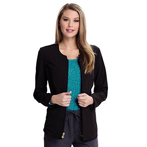 - Careisma by Sofia Vergara Women's Angelina Zip-up Solid Scrub Jacket XXX-Large Black