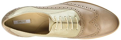 de Zapatos Geox Gold Beige Oxford Janalee G Cordones Taupec2lh6 D Lt para Lt Mujer aIIpqf