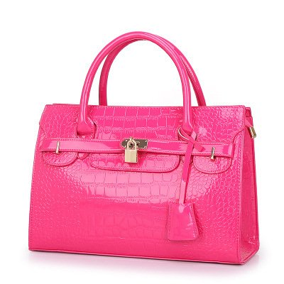 Meoaeo El Nuevo Big Bag Bolso De Moda Europea Cruz Rosa Roja Rose red