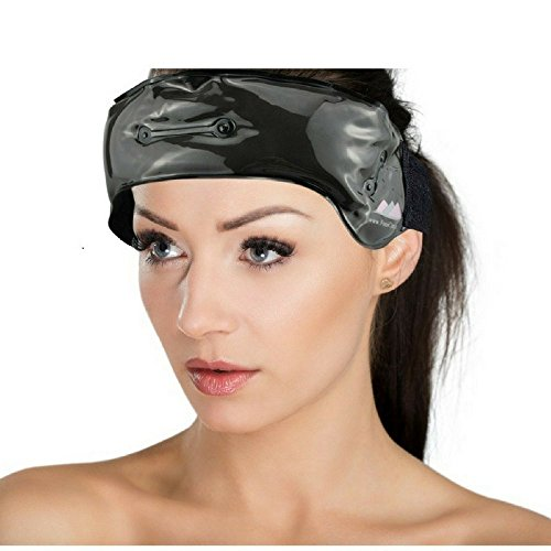 Hot and Cold Headache Ice Pack by FOMI Care | Clay Filling | Wearable Cold Therapy Wrap for Fever, Sinus, Migraines, Stress Pain Relief | Fabric Backing, Adjustable, Reusable