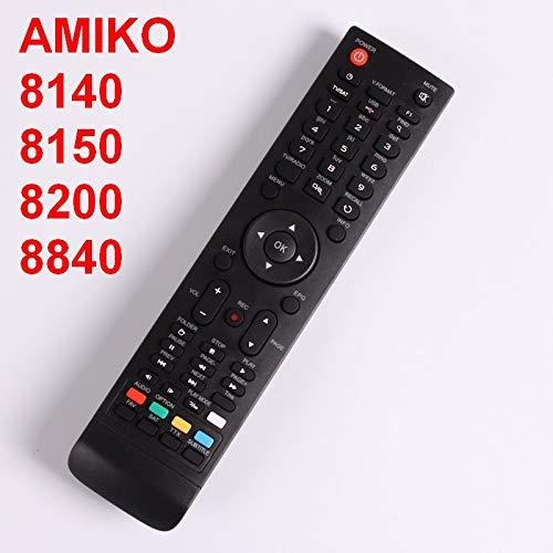 Remote 8820 - Calvas Remote Control For AMIKO Mini HD 8150,8200,8300,8360,8840, SHD 7900, 8000, 8110, 8140, STHD 8820,8800, Micro combo, (Color: Black)