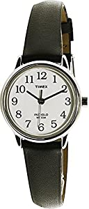 Timex Women's Easy Reader | Black Leather Strap White Dial | Casual Watch T20441