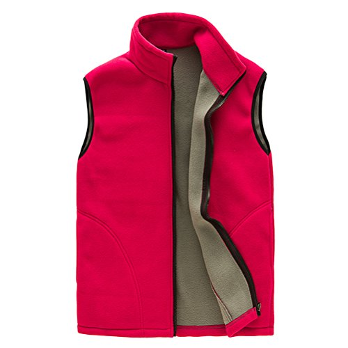 Gilet Womens Vest Al Sports Outwear libre Shell Respirable Zipper Fleece Womens Mens Zhhlaixing Soft Unisex Warmer Red Body aire Uq0Y0w