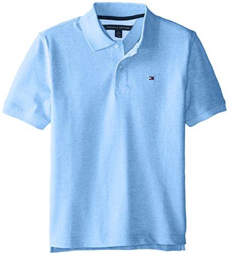 Tommy Hilfiger Big Boys' Ivy Polo Spring Shirt, Blue Dream Heather, Medium