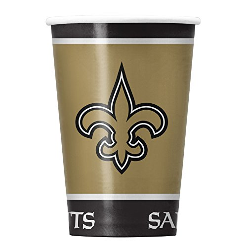 NFL New Orleans Saints Disposable Paper Cups, Pack of 20