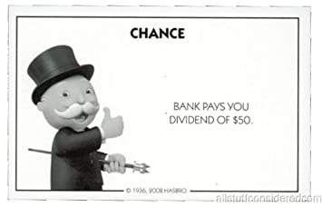 Amazon.com: Monopoly Chance Card Bank Dividend - Replacement: Toys ...