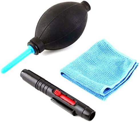 3 In 1 Lens Cleaning Cleaner Dust Pen Blower Cloth Kit For Canon, Nikon Camera