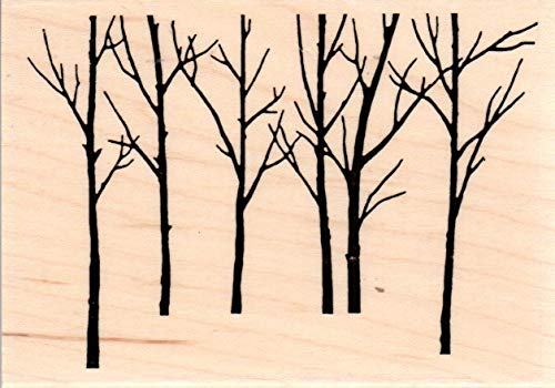 Impression Obsession F20581 Bare Tree Forest Wood Mounted Rubber Stamp