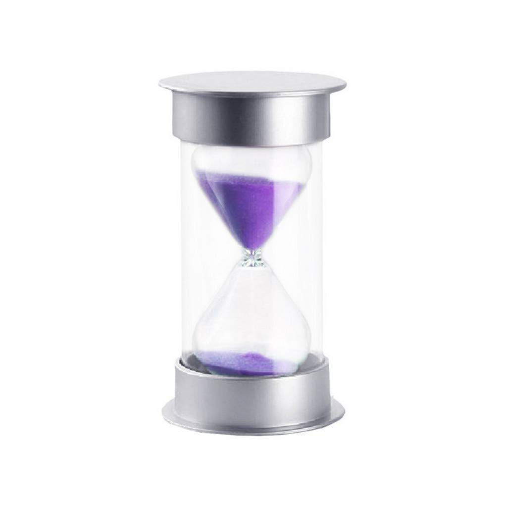 Sikye Colorful Sandglass Hourglass Sand Clock Timer 15 Minutes for Kids, Classroom, Kitchen,Brushing Timer, Home Office Decoration (Purple)