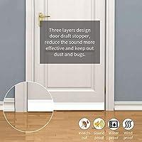 Tope autoadhesivo 3M para puerta de puerta o puerta, para puerta de debajo de la puerta, puerta de desmontar y desmontar la puerta, 99 cm de largo x 4,3 cm de ancho: