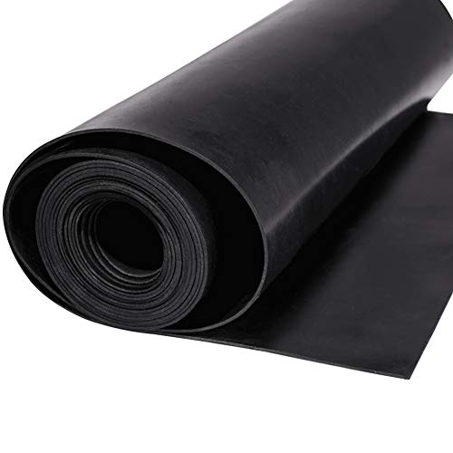 Neoprene Rubber Sheet Roll 1/16 (.062) Inch Thick x 12 Inch Wide x 10 Feet for DIY Gaskets, Pads, Seals, Crafts, Flooring,Cushioning of Anti-Vibration, Anti-Slip