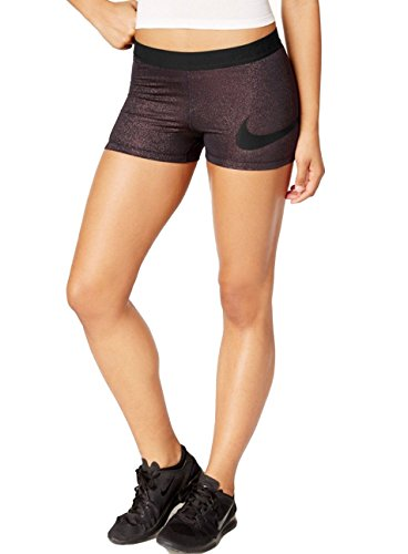 NIKE Women's Pro 3'' Training Shorts (X-Large, Black(835654-012)/Metallic Pink) by NIKE