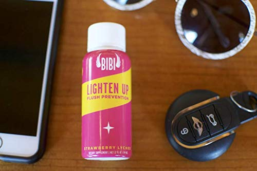 Lighten Up Alcohol Detox Shot   for Flush Prevention, Asian Glow, with  Dihydromyricetin (DHM), Milk Thistle, NAC, Amino Acids, Vitamin B6, Vitamin