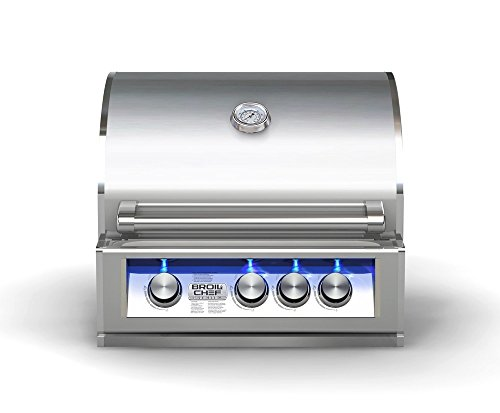 """Broilchef 25"""" Built-In LP/NG Gas Grill with Blue LED Broilchef Premium"""
