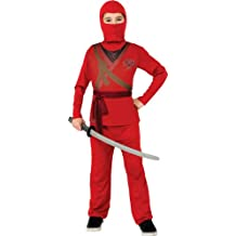 Ninja Costume, Red, Medium