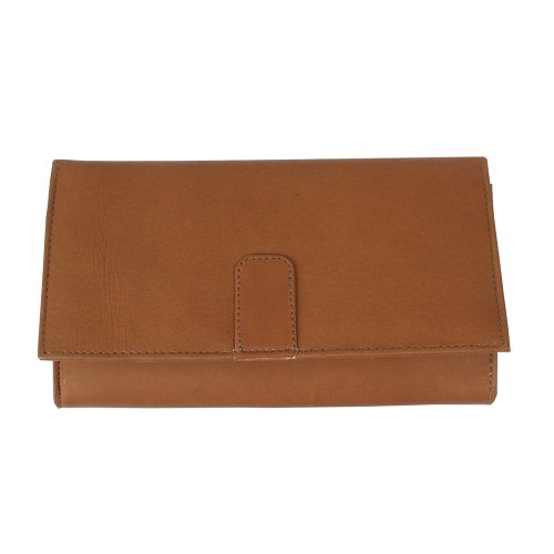 Top Grain Piel Leather - Piel Leather Deluxe Ladies Wallet, Saddle, One Size