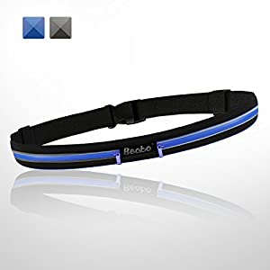 Becko Lightweight & Durable Waterproof Bag / Running Belts / Runners Belt / Race Belt - Fitness Workout Belt for Both Men and Women - Fit for iPhone, HTC, Samsung, Motorola, BlackBerry and Most Smartphones - Waist Pack Belt / Runners Belt Waist Pouch / Sport Running Waist Bag / Runner's Waist Pack Protects items during Workouts, Cycling, Hiking, Walking, Running, Sports, Leisure and All Outdoor Activities (2 pockets / Black)