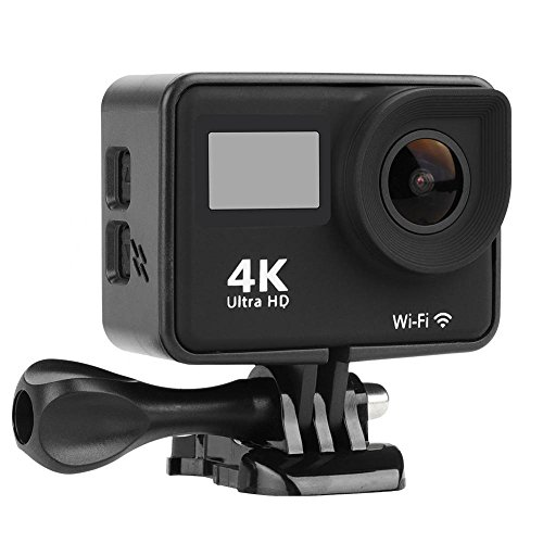 Acouto Wifi Action Camera 4K Ultru HD 2 Inch Touch Screen Camera 12MP 170 Degree Wide Angle View Sport Cam Underwarter Camcorder with Waterproof Housin Case,Remote Controller Accessories Kit by Acouto (Image #2)