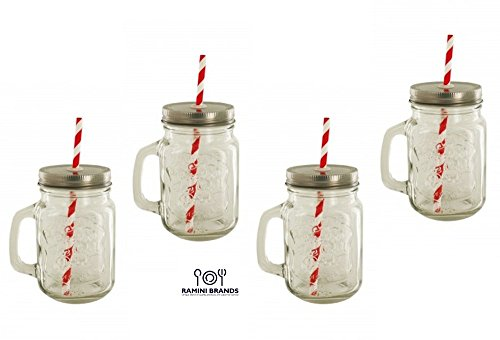 Vintage Styled Lidded Mason Drinking Jar - Vintage Style Glass Shopping Results