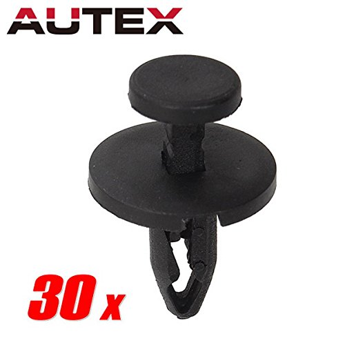 PartsSquare 30pcs Fender Liner Fastener Rivet Durable Nylon Bumper Push Type Car Retainer Clips Replacement for Chrysler 300M Concorde Sebring Town Country Dodge Ram Stratus Viper
