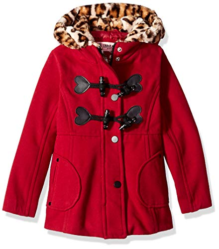 Urban Republic Toddler Girls Wool Jacket, Scarlet red, 4T
