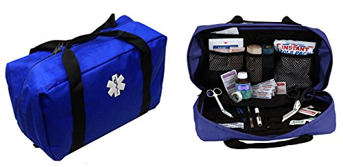 Ems Equipment (Ultimate Arms Gear Deluxe Heavy Duty Navy Blue EMS/EMT Emergency Medical Paramedic Trauma Supplies Gear Pack Equipment First Aid Kit Carry Rescue Bag)