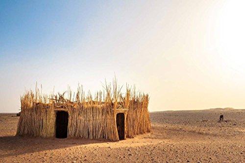 Sim,Popular murals Wood-Material DIY Present-Wrap in Box 29.5 X 19.6 inch 1000 Piece Hard Puzzle Large Size : Morocco Desert Reeds Hut Sun - Hut Desert