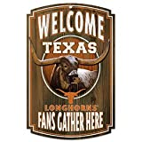 WinCraft NCAA University of Texas 69910092 Wood Sign, 11'' x 17'', Black