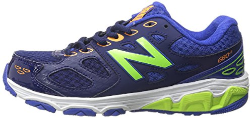 New Balance KR680 Youth Running Shoe (Little Kid/Big Kid),Blue/Green,13 M US Little Kid