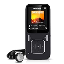 AGPtEK 8GB MP3 Music Player Lossless Sound,Supporting Photo Viewer,Voice Recorder,FM Radio,E-Book,Folder viewing(Expandable up to 128GB,SD/TF Card is not included),Black