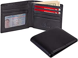Lositto RFID Blocking Genuine Leather Wallet for Men-Excellent as Travel Bifold