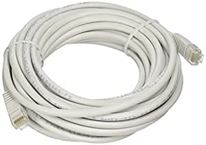 Insten PCABCAT50006 Ethernet Cable, 25' White/Gold Plated Male to Male Connectors