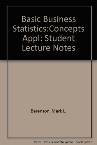 Basic Business Statistics: Student Lecture Notes