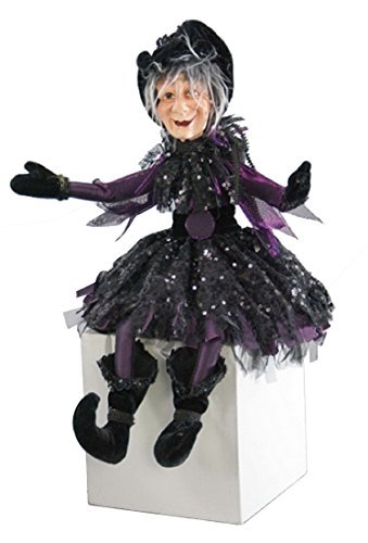 Katherine's Collection Spellbound Lanky Leg Halloween Witch (Purple) ()