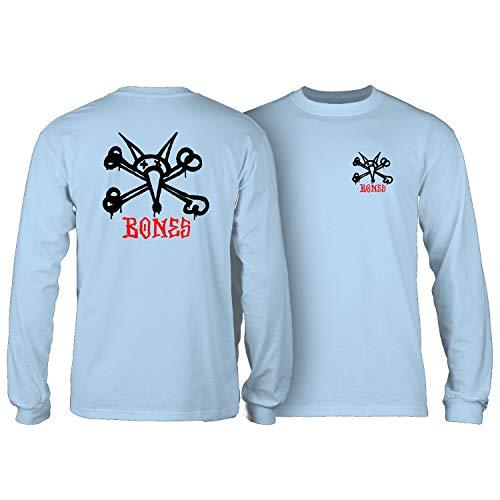 Powell-Peralta Skateboard Long Sleeve Shirt Rat Bones Powder Blue Size M