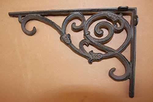 Elegant Americana Design Solid Cast Iron 9 1/4 inches, Vintage-look scroll work, Set of 2, B-62 by Cast Iron Decor (Image #3)