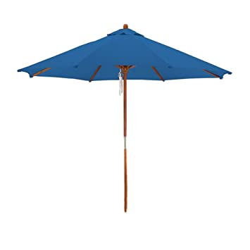 High Quality Deluxe Market Umbrella In Blue