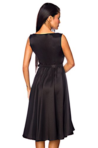 Schwarz Satin Damen Gürtel mit Dessous Kleid good amp; luxury 8qIOw