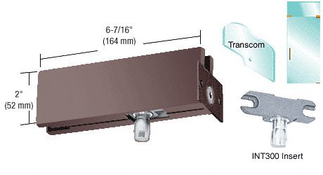 CRL Duranodic Bronze Finish Wall Mounted Transom Patch with INT300 Insert
