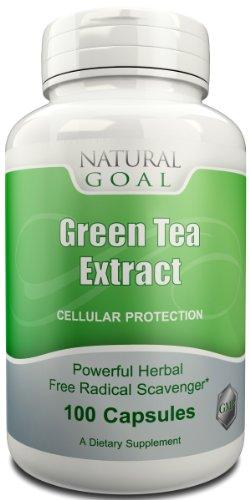 Extrait de Thé Vert - Premium année thé vert - antioxydant puissant - peut aider à la perte de poids - 100 Capsules - Safe & Non Effets secondaires - durée de vie 100% Satisfaction Garantie de remboursement