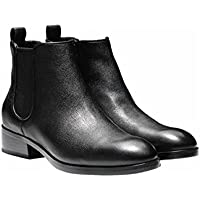 Cole Haan Women's Landsman Booties Short Leather Causal Ankle Boot Black