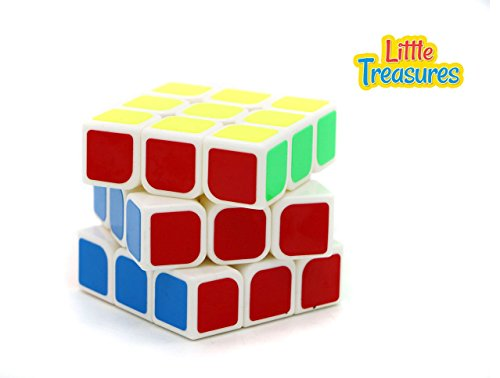 Little Treasures Quick Speed Cube, Vivid Color 3x3 Puzzle Cube, 3 Layer Speed Cube