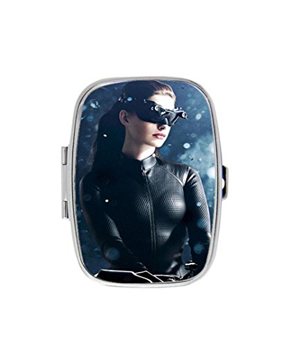 Anne Hathaway Catwoman Custom Fashion Style Stainless Steel Rectangle Pill Box Pill Case Vitamins Organizer or Jewelry Box,Coin - Hathaway Anne Style