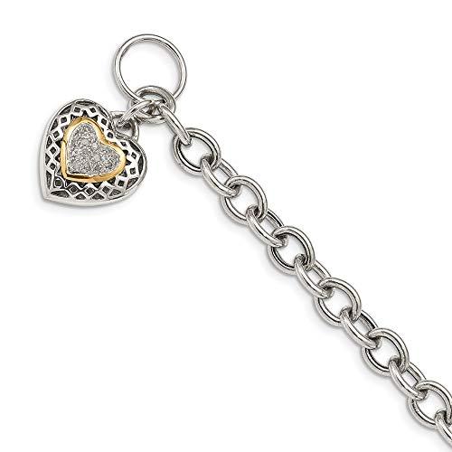 Diamond Accent Heart Toggle Bracelet - 2