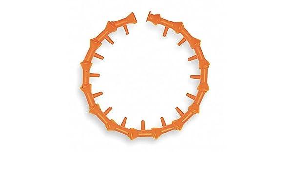 1-1//4 Width Acetal Copolymer Loc-Line Coolant Hose Component 1//2 Hose ID Pack of 2 Straight Flow Nozzle