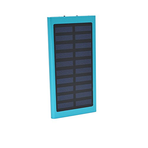 TAVLAR 100000mAh Dual USB Portable Solar Battery Charger Solar Power Bank For Phone (Blue) by TAVLAR